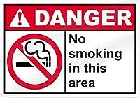 素晴らしいティンサインアルミニウムこのエリアで禁煙、ヴィンテージアルミニウムレトロな金属製のプラーク警告サインティンアート壁の装飾ヴィンテージ装飾看板店のホームガーデンパブバーコーヒーハウスアラート