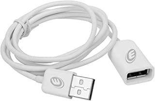 Electraline 600440Extension Cable USB 2.0Type A Male to USB Type A Female, 2Metre, Apple Design, White