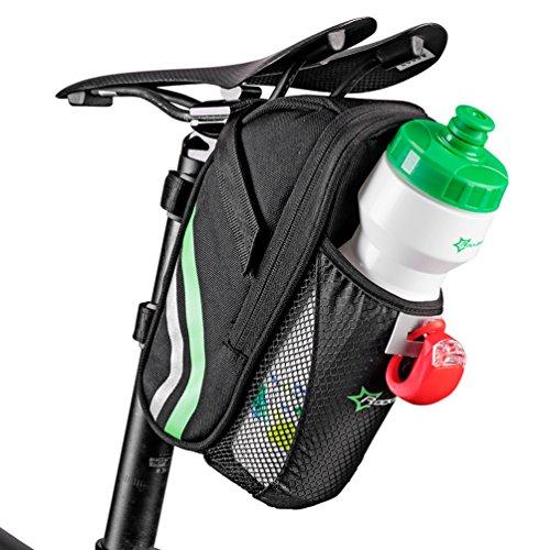 ROCKBROS Bolsa para Sillín de Bicicleta Resistente al Agua de Asiento con Soporte...