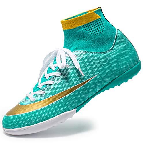 Mujeres de fútbol botas de tobillo fútbol para hombres Messi CR Turf Interior Sneaker de la zapatilla de pie del pie al aire libre para el césped al aire libre TF AG Calzado deportivo Entrenamiento al