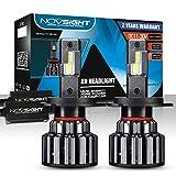 NOVSIGHT Lampadine H4/9003/HB2 LED 15000LM, Kit Lampadine Auto Luci LED Auto Sostituzione per Lampadine Alogene Xeno Anabbaglianti Impermeabile Certificato DOT 6000K Bianco 2 Pack