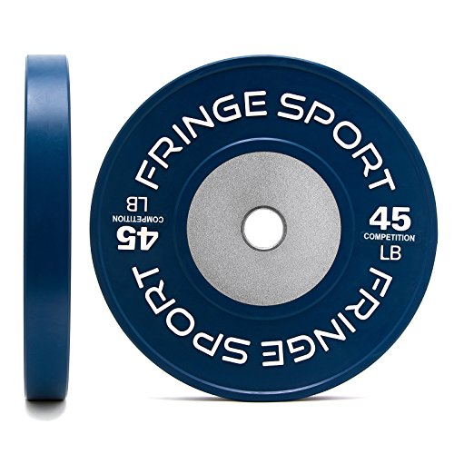 Fringe Sport Color Competition Bumper Plate Pairs in Pounds for Olympic Weightlifting/Steel Hub Disc
