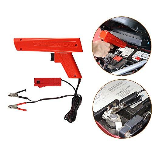 Greenbang Instrument de diagnostic de lumière de synchronisation, poignée de pistolet ZC-100 de lumière de synchronisation de xénon vérifiant la synchronisation d'allumage sur l'ampoule du xénon des véhicules à moteur de 12V