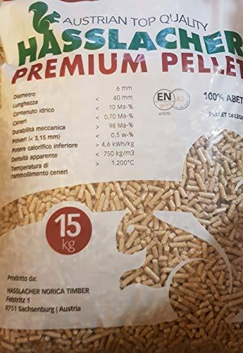 RED PELLET STUFE STUFA ABETE ROSSO AUSTRIACO ALTA QUALITA  SPEDIZIONE GRATUITA - 15kg