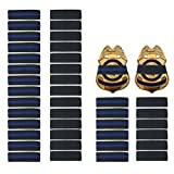 40 Pack 1/2' Police Mourning Band Stripe Police Officer Badge Shield Funeral Honor Guard Straps, 2 Styles (20 Pack Black + 20 Pack Thin Blue Line)
