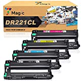 7Magic Remanufactured Drum Unit Replacement for Brother DR221CL DR-221CL DR221 DR 221 CL DR221CL for Brother MFC-9130 MFC-9130CW MFC-9330 CDW MFC-9340 HL-3170CDW HL-3180CDW HL-3140CW Printer 4 Pack