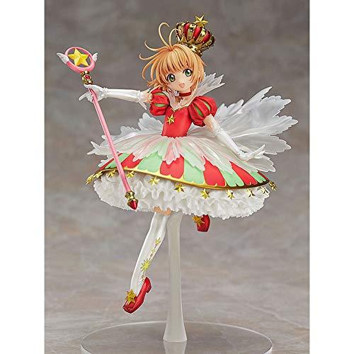 Aoemone 15 ° Anniversario Card Captor Sakura Kinomoto Sakura Anime Figure Cartoon Game Character Model Statue Figure Toy Collezionabili Decorazioni Preferito dai Fan Anime Regalo Bambini per Ragazzo