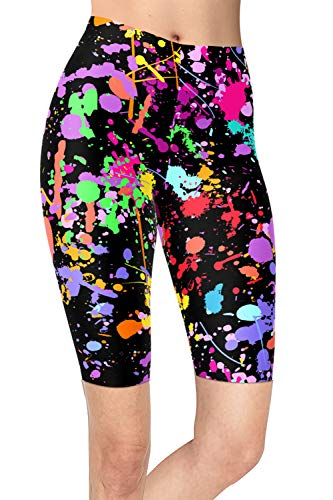 neon splatter paint leggings - 6