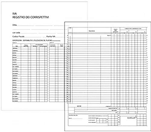 Edipro - E2106 - Registro IVA corrispettivi 47 pagine numerate f.to 31x24,5