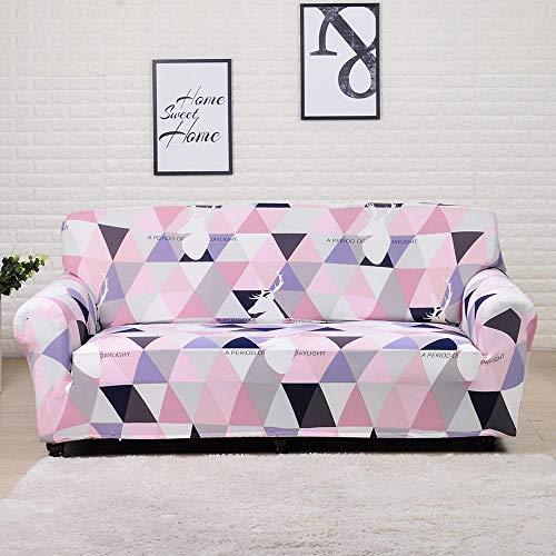 ASCV Sofabezug Spandex Fit Schnittsofa und Eckcouch für Wohnzimmer Geometric Printedhousses A18 2-Sitzer