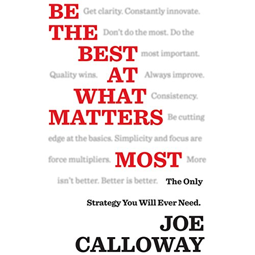Be the Best at What Matters Most audiobook cover art