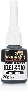 Super Glue Elastica 20g Pegamento instantáneo de cianocrilato Extra fuerte Negra Alta Flebilidad Reparación Elementos flexibles de Goma