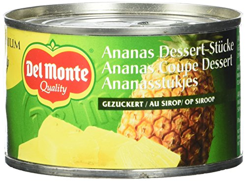 Del Monte Ananasstücke gezuckert, 12er Pack (12 x 236 ml Dose)