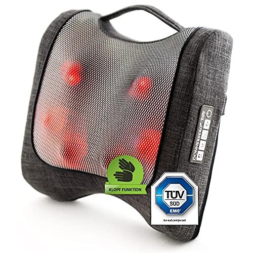 Krafty Massagekissen Donnerberg München Rückenmassagegerät für Shiatsu und Klopfmassage 4D - Massagegerät mit Infrarotwärme TÜV Süd 7 Jahre Garantie für Haus Büro Auto