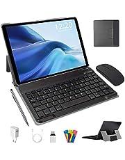 Tablet PC 10 inch Android 10.0 Pie 64GB ROM 4GB RAM Tablet PC met Dual SIM | 8000mAh | WiFi | GPS | Bluetooth | Type-C | Dual Camera (8MP + 5MP) met Bluetooth-toetsenbord en muis (zwart)