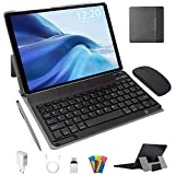 Tablet 10 Pollici Android 10.0 Pie 64 GB ROM 4 GB RAM Tablets PC con Doppia SIM | 8000mAh | WiFi | GPS | Bluetooth | Type-C | Doppia Fotocamera (8MP+5MP) con Tastiera Bluetooth e Mouse (Nero)