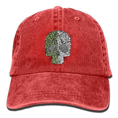 African Black Hair Trend Printing Cowboy Hat Fashion Baseball Cap For Men and Women Red