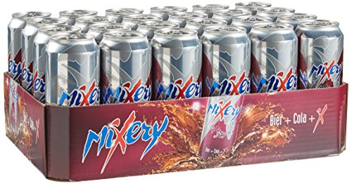 Mixery Cola + X Biermischgetränk, 24er Pack, EINWEG (24 x 500ml)