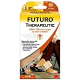 Futuro - MMM-411 Open Toe Stocking, Unisex, Firm Compression, 20-30 mm/Hg, Helps Relieve Symptoms of Mild Varicose Veins