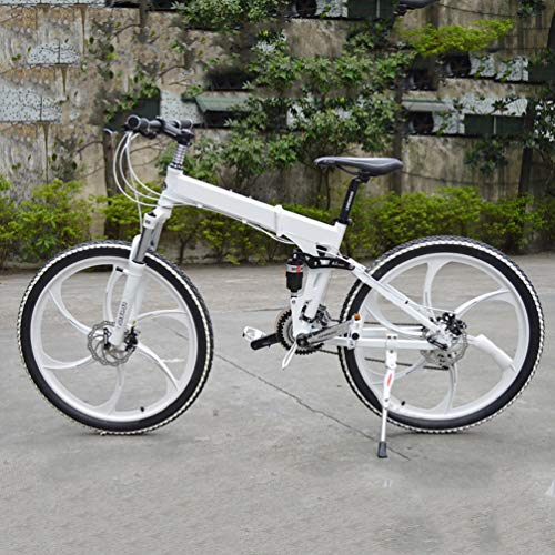 NXX 20 Zoll vollgefedertes Erwachsenen Jugend Fahrrad Mountainbike MTB Scheibenbremse für Männer Frauen Jungen Mädchen,7 Geschwindigkeiten Shimano Antrieb,Weiß