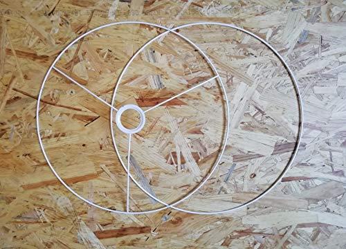 Lampenringe Lampenaufhängung Weiß Metall Deckenlampe Hängelampe (Lampenaufhängung 40cm)