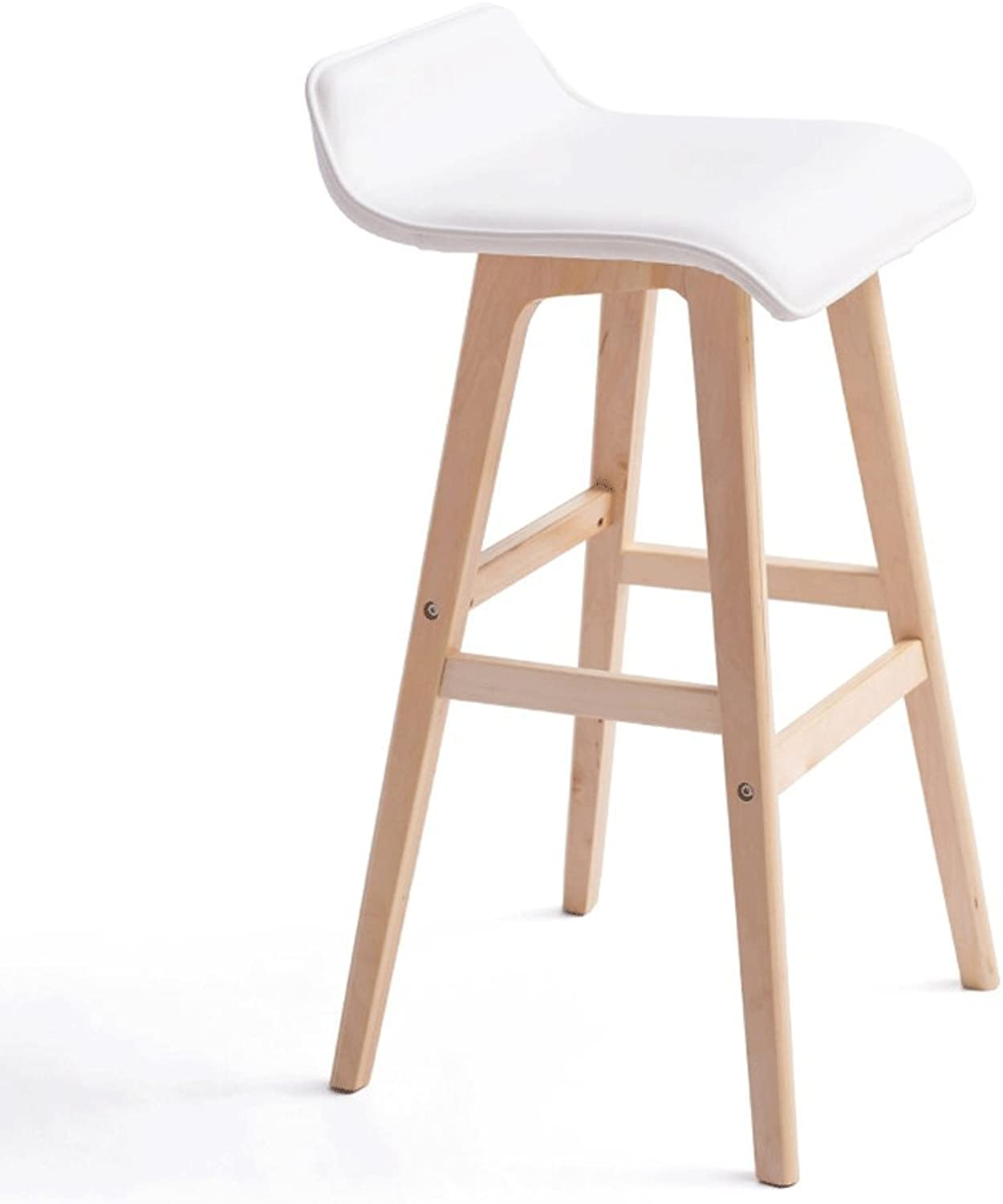 Barstool Solid Wood Chair High Stool Restaurant Cafe Leisure Chair Bar Chair (color   K, Size   H-65cm)