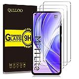 QULLOO Panzerglas kompatibel mit Xiaomi Mi 11 Lite 4G / 5G, [3 Stück] 9H Hartglas Schutzfolie HD Bildschirmschutzfolie Anti-Kratzen Panzerglasfolie Handy Glas Folie für Xiaomi Mi 11 Lite 4G / 5G