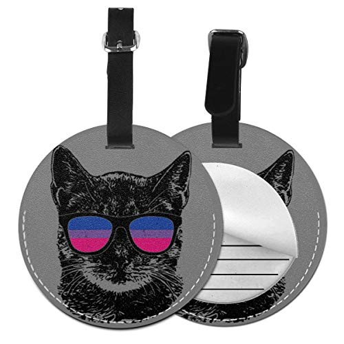 Luggage Tags Pride Cat Sunglasses Suitcase Luggage Tags Business Card Holder Travel ID Bag Tag