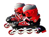 Tabu Toys World Inline Skating Size Adjustable All Pure PU-Alloy Wheels of Aluminum