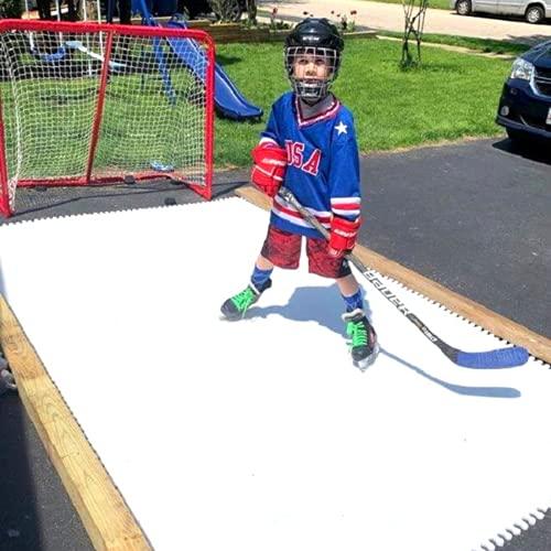 Skate Anytime - Synthetic Ice for Hockey - Skateable Artificial Ice Tiles - Backyard Ice Rink - Expandable (Skateable Synthetic Ice for Hockey Training, Deluxe Starter Kit (20 Panels) 60 sq ft)