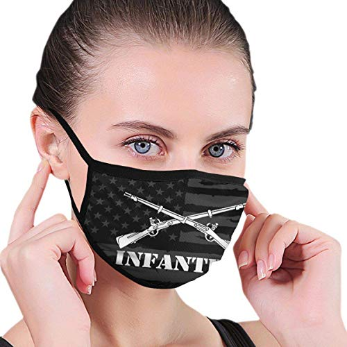 Mouth Masks leger infanterie tak Insignia militair bivakmuts wasbare mode gezichtsafdekking herbruikbare buitendruk multifunctionele oorbeugel hoofddeksel werkschoen