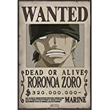 Abystyle Wanted Zoro Poster New (52x38)