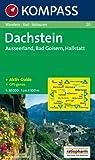 Dachstein, Ausserland, Bad Goisern, Hallstatt: Wander-, Bike- und Skitourenkarte