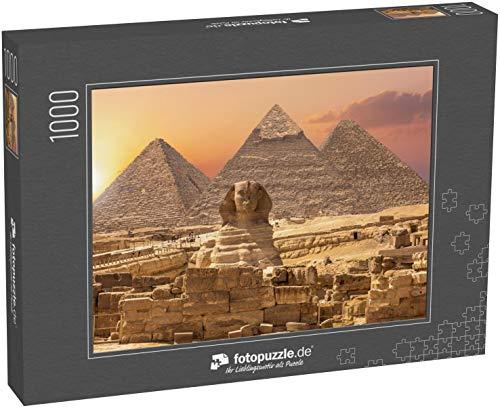 Puzzle 1000 Teile Die Sphinx und die Piramiden, berühmtes Weltwunder, Gizeh, Ägypten - Klassische Puzzle, 1000/200/2000 Teile, in edler Motiv-Schachtel, Fotopuzzle-Kollektion 'Ägypten'