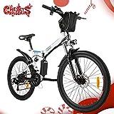 Speedrid Vélo de Montagne Pliable pour vélo électrique, 26 pneus Vélo électrique pour vélo Ebike avec Moteur sans Balai de 250 W et Batterie au Lithium 36V 8Ah Shimano 21 Vitesses