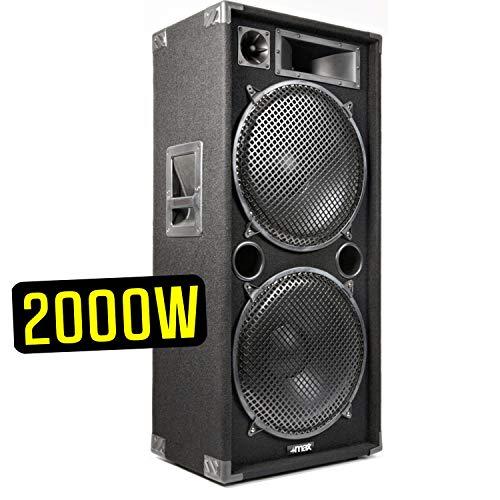 CASSA ACUSTICA PASSIVA 2000W 2 X 15' DIFFUSORE PALCO DJ FULL RANGE IN MOQUETTE