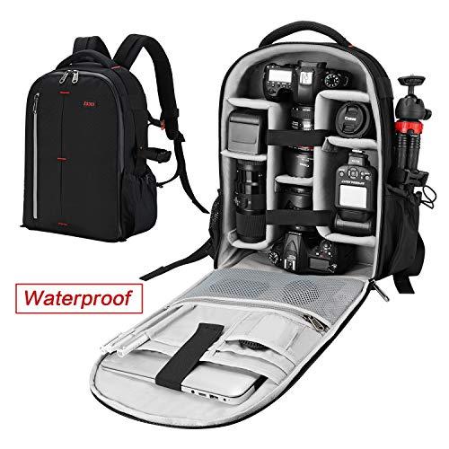 ESDDI Sac Appareil Photo Waterproof avec Diviseurs Personnalisés Rembourré pour Objectifs,Support De Trépied Et Appareils Photo Reflex Numériques, Ordinateur Portable