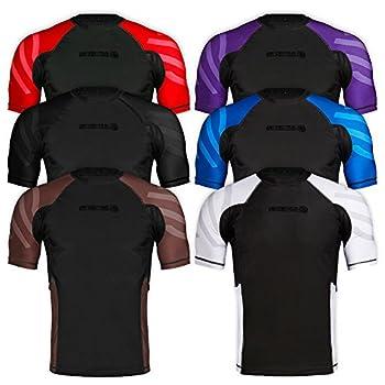 Sanabul Essentials Short Sleeve Compression Base Layer Rash Guard  Large All Black