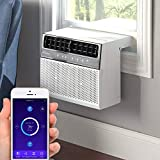 Soleus Air Exclusive 8,000 BTU Energy Star First Ever Over The Window Sill Air Conditioner Revolutionary Safety Class and Whisper Quiet, Keep Your Window View, With Wifi, Google Home, and Alexa (2021 Model)