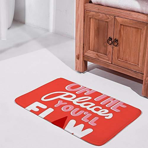 Rode ROSEY indoor matOh De Plaatsen U Flow up Silhouette Patroon Badmat voor Binnen/Buiten/Voordeur/Slaapkamer 60X40cm