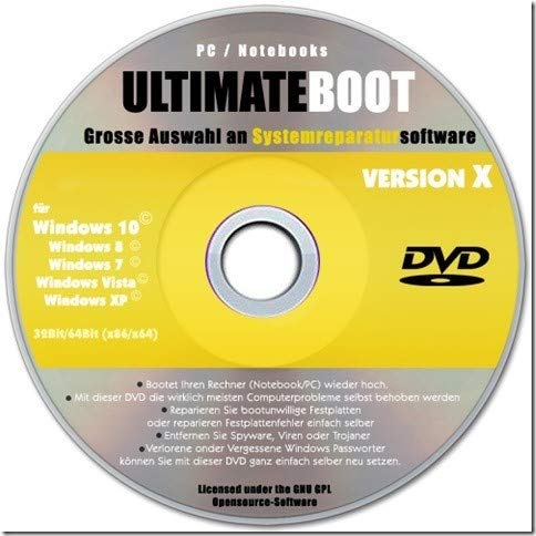 Notfall CD DVD, System Rescue, Computer reparieren, System wiederherstellen, Datenrettung, Rettungs-CD, Notfall-CD DVD,Windows wiederherstellen