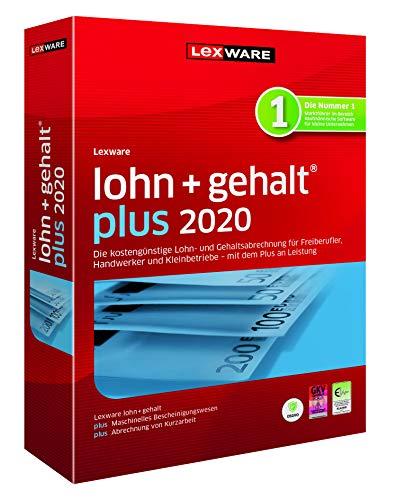 Lexware lohn+gehalt 2020|plus-Version Minibox (Jahreslizenz)|Einfache Lohn- und Gehaltsabrechnungs-Software für Freiberufler, Handwerker und Kleinbetriebe