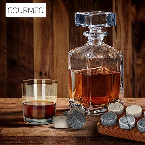 GOURMEO Whisky Steine (6 Stück) aus Marmor und Granit I wiederverwendbare Eiswürfel, Whiskysteine, Whisky Stones, Kühlsteine - 5