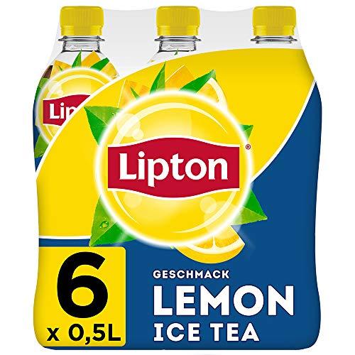 LIPTON ICE TEA Lemon, Eistee mit Zitronen Geschmack (6 x 0.5l)