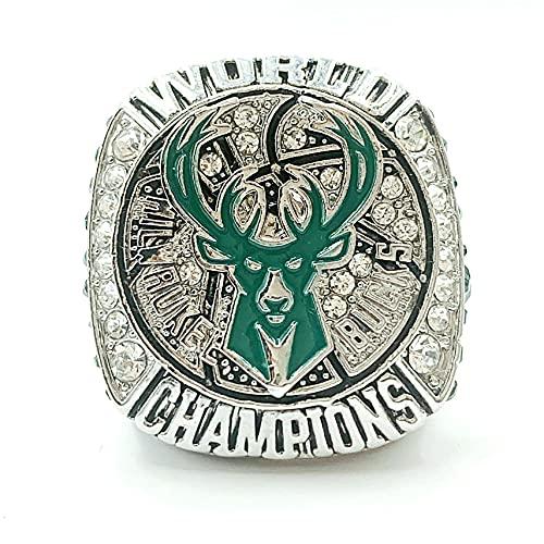 2021 Milwaukee Championship Ring Replica Basketball Champions Ring with Championship Ring Box for