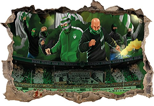 Ultras Greuther Fürth, 3D Wandsticker Format: 92x62cm, Wanddekoration