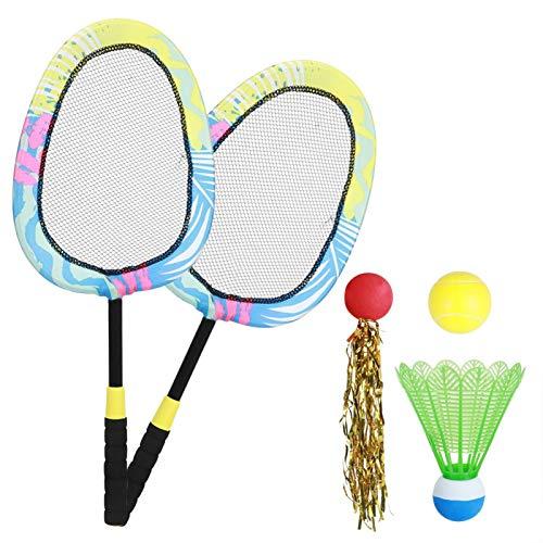 Juego de Raqueta de Tenis de bádminton, Juguete portátil para niños, bádminton, Tenis, para Ejercicio Deportivo