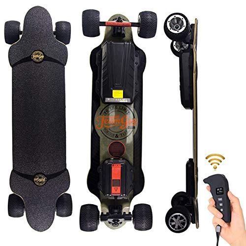 Skateboard Eléctrico Longboard 4 Ruedas para Adultos con Control Remoto, Doble accionamiento...