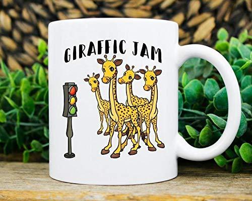 Taza de café con diseño de jirafa, de cerámica de calidad A, ideal para el día de San Valentín, aniversarios para mujeres y hombres