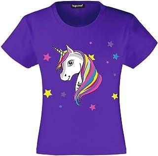 3544bba878063 Unicorn T-Shirt Filles Enfants Licorne T Shirt Tee 3 à 15 Ans